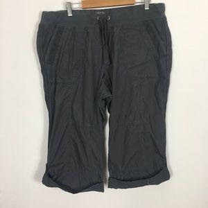 Calvin Klein Performance Grey Workout Capri Pants
